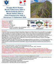 Escursione del 13 settembre – M.te Elefante (Monti Reatini)