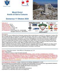 Escursione del 11 ottobre 2020 – Anello di Serra Comune